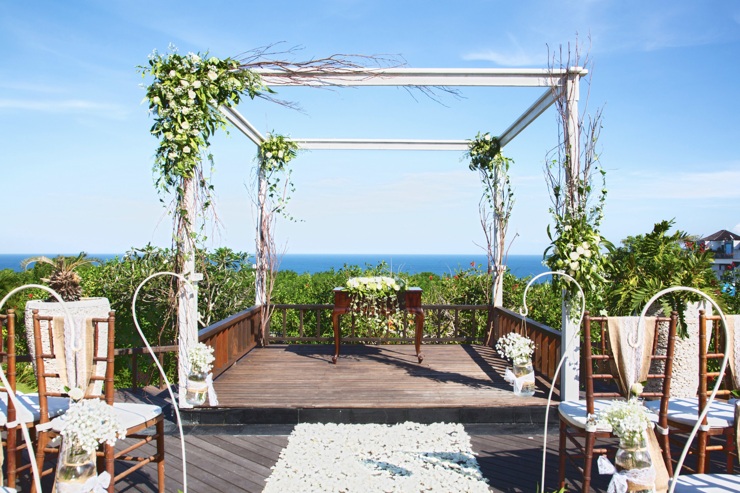 bali villa wedding ocean view